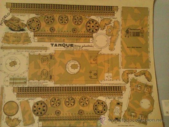 RECORTABLE EL SOLDADO-----TANQUE (Coleccionismo - Recortables - Construcciones)