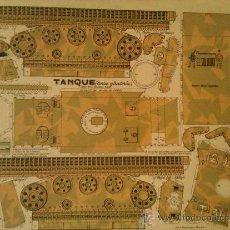 Coleccionismo Recortables: RECORTABLE EL SOLDADO-----TANQUE. Lote 34378459