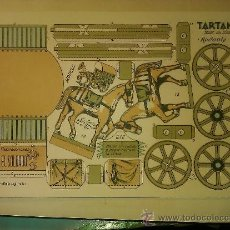 Coleccionismo Recortables: RECORTABLE EDITORIAL EL SOLDADO----TARTANA. Lote 34391942