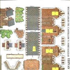 Coleccionismo Recortables: RECORTABLE PAPEL CASTILLOS Y FORTALEZAS EDIVAS LAMINA 5. Lote 34553786