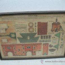 Coleccionismo Recortables: LA TIJERA - RECORTABLES ENMARCADOS SERIE 10 NÚMERO 255 EDIFICIO BELGA. Lote 35779692