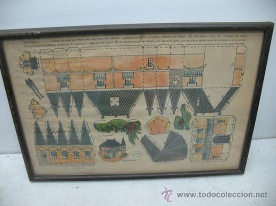 LA TIJERA - RECORTABLES ENMARCADOS SERIE 10 NÚMERO 1 CHALET HOLANDES (Coleccionismo - Recortables - Construcciones)
