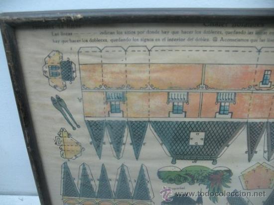 Coleccionismo Recortables: La tijera - Recortables enmarcados serie 10 Número 1 Chalet holandes - Foto 2 - 35779725