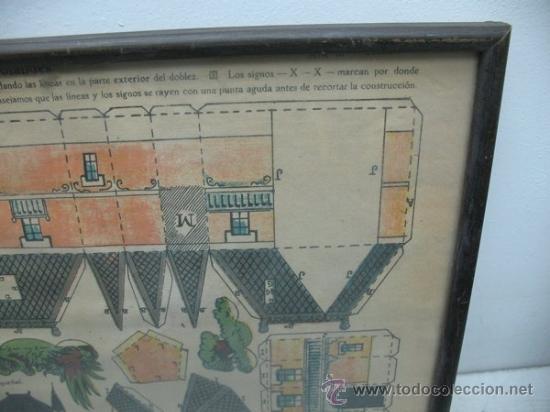 Coleccionismo Recortables: La tijera - Recortables enmarcados serie 10 Número 1 Chalet holandes - Foto 3 - 35779725
