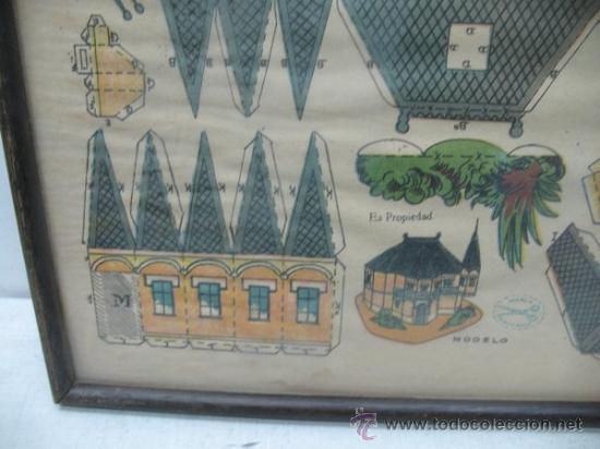 Coleccionismo Recortables: La tijera - Recortables enmarcados serie 10 Número 1 Chalet holandes - Foto 4 - 35779725