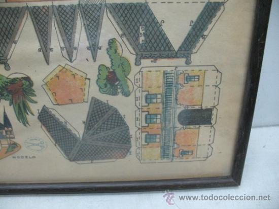 Coleccionismo Recortables: La tijera - Recortables enmarcados serie 10 Número 1 Chalet holandes - Foto 5 - 35779725