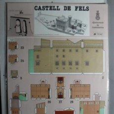 Coleccionismo Recortables: RECORTABLE CASTELL DE FELS. Lote 35838130