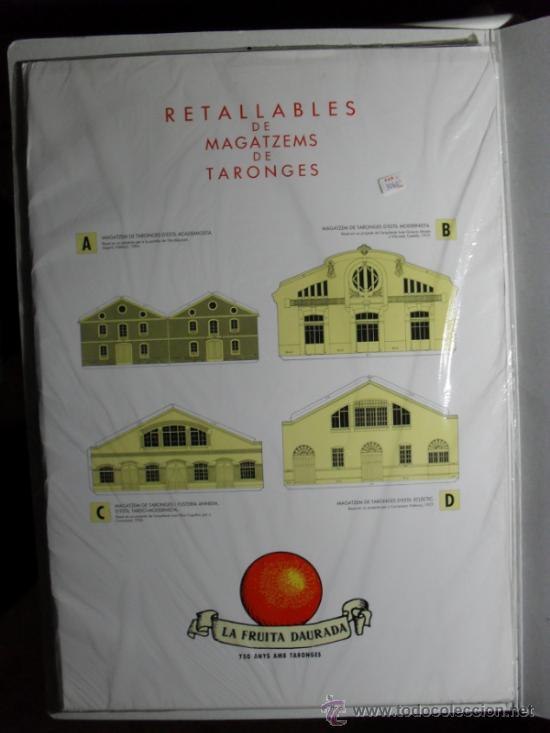 RECORTABLE DE 4 ALMACENES MODERNISTAS DE ALMACENES DE NARANJAS (Coleccionismo - Recortables - Construcciones)