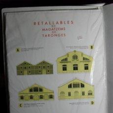 Coleccionismo Recortables: RECORTABLE DE 4 ALMACENES MODERNISTAS DE ALMACENES DE NARANJAS. Lote 107038671