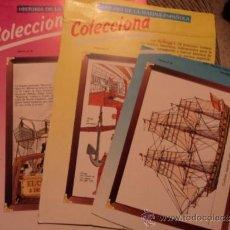 Coleccionismo Recortables: 3 LÁMINAS DE LA HISTORIA DE LA MARINA ESPAÑOLA. SALÍAN EN LAS CAJAS DE KELLOGG'S. AÑOS 80. Lote 36002060