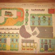 Coleccionismo Recortables: RECORTABLE CHALET CON TORREÓN,ED.LA TIJERA. Lote 38890516