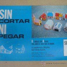 Coleccionismo Recortables: SIN CORTAR NI PEGAR- TORAY 1971 - 8 LAMINAS CON CASAS - NUEVO A ESTRENAR STOCK DE KIOSKO. Lote 39224895