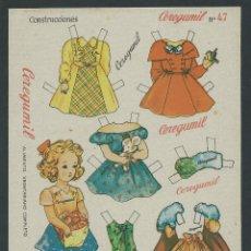 Coleccionismo Recortables: HOJA DE RECORTABLES DE CEREGUMIL N 47 RECORTABLE. Lote 35068447
