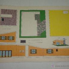 Coleccionismo Recortables: RECORTABLES TORAY Nº 125 - CHALET FUNCIONAL - EDICIONES TORAY 1962 - MIDE 40X29CMS. . Lote 40478669