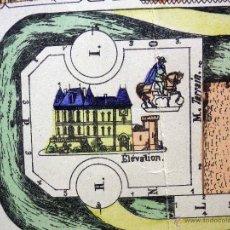 Coleccionismo Recortables: LAMINA RECORTABLE, IMAGERIE D'EPINAL PELLERIN Nº 812, CHATEAU DEL SIGLO XVII. Lote 40917652