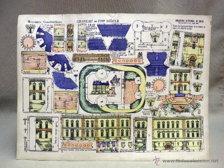 Coleccionismo Recortables: LAMINA RECORTABLE, IMAGERIE DEPINAL PELLERIN Nº 812, CHATEAU DEL SIGLO XVII - Foto 2 - 40917652