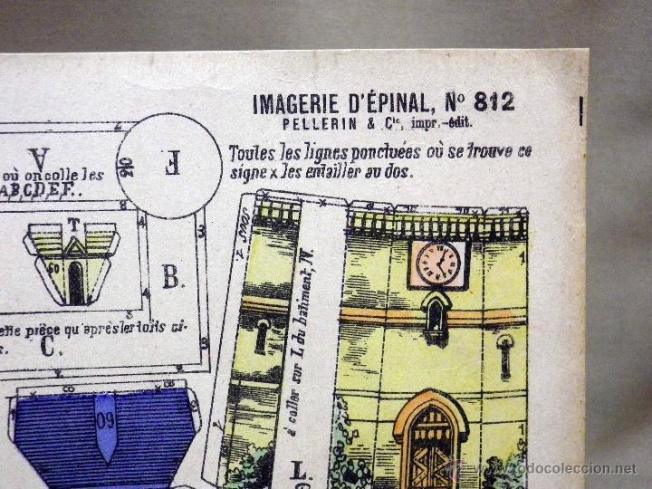 Coleccionismo Recortables: LAMINA RECORTABLE, IMAGERIE DEPINAL PELLERIN Nº 812, CHATEAU DEL SIGLO XVII - Foto 3 - 40917652
