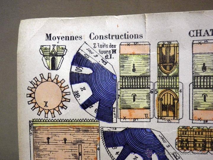 Coleccionismo Recortables: LAMINA RECORTABLE, IMAGERIE DEPINAL PELLERIN Nº 812, CHATEAU DEL SIGLO XVII - Foto 5 - 40917652