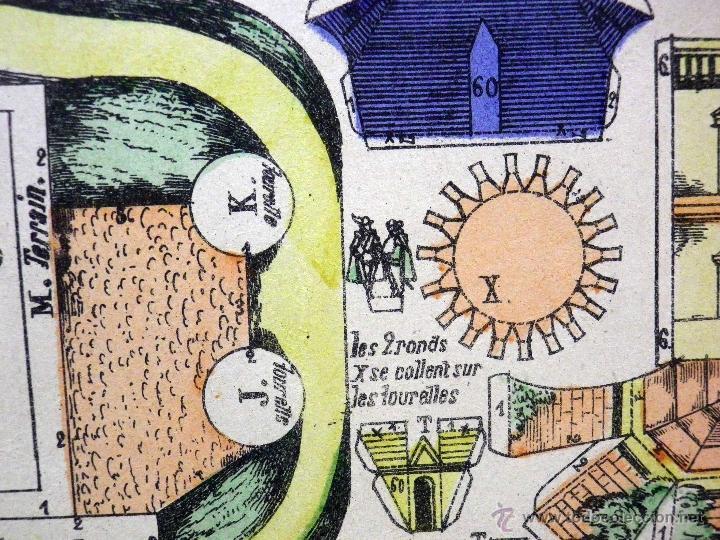Coleccionismo Recortables: LAMINA RECORTABLE, IMAGERIE DEPINAL PELLERIN Nº 812, CHATEAU DEL SIGLO XVII - Foto 7 - 40917652