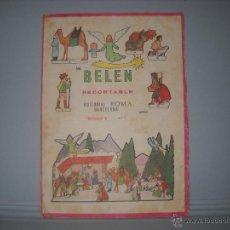 Coleccionismo Recortables: MI BELEN RECORTABLE MODELO B Nº1,EDITORIAL ROMA BARCLONA 1967. Lote 41141554