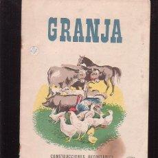 Coleccionismo Recortables: CONSTRUCCIONES RECORTABLES LA TIJERA , GRANJA -EDITA : AÑOS 50. Lote 41232818