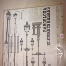 Coleccionismo Recortables: BARCELONA ELEMENTS URBANS FAROLAS RECORTABLE LA CIUTAT DE PAPER 1981. Lote 26662715