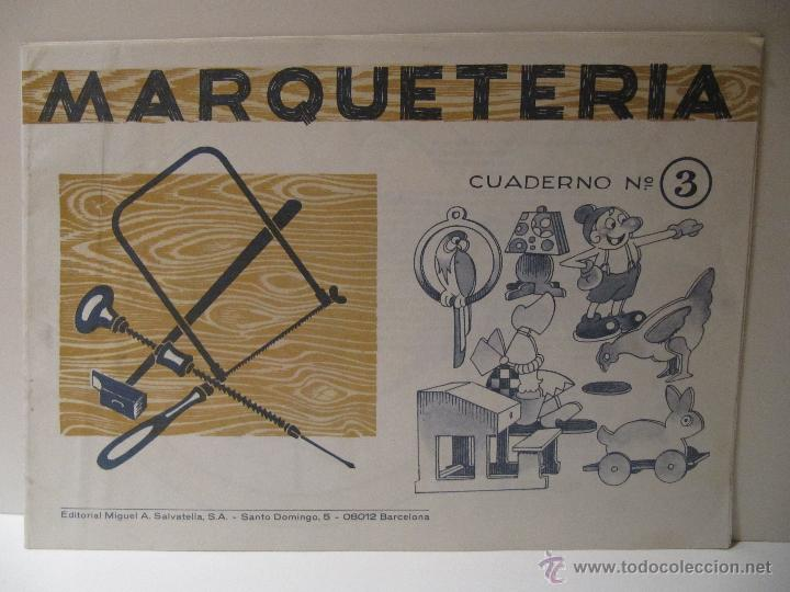 CUADERNO MARQUETERIA Nº 3 ED. SALVATELLA (Coleccionismo - Recortables - Construcciones)