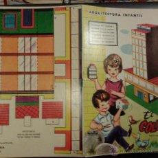 Coleccionismo Recortables: CUENTO PARA COLOREAR. ARQUITECTURA INFANTIL EL COLEGIO. Nº 2 SABATÉS ILUSTRADOR. EDICIONES LA TIJERA. Lote 43200557