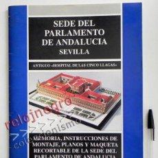 Coleccionismo Recortables: RECORTABLE DEL PARLAMENTO ANDALUZ EDIFICIO MONUMENTO SEVILLA ANDALUCÍA HOSPITAL DE LAS CINCO LLAGAS. Lote 44837582