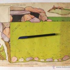 Coleccionismo Recortables: RECORTABLE DE PARQUE ZOOLOGICO. RECINTO LEONES TIGRES Y OSOS. ZOO DE EDICIONES TORAY 1962. Lote 45334254