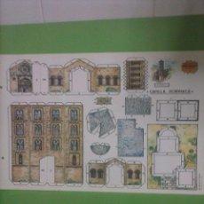 Coleccionismo Recortables: EDITORIAL ROMA HOJAS RECORTABLES SERIE NARANJA EDIFICIOS Nº5 CAPILLA ROMANICA. RECORTE RECORTABLE.. Lote 45547512