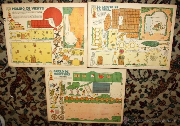 Coleccionismo Recortables: LOTE DE 7 RECORTABLES DE EDICIONES TBO. AÑOS 40-50 - Foto 4 - 45634499