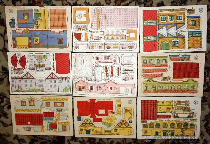 Coleccionismo Recortables: LOTE DE 25 RECORTABLES DE CASAS Y CONSTRUCCIONES. VARIAS SERIES. AÑOS 40-50 - Foto 3 - 45634518