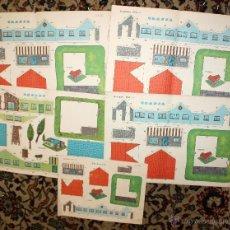 Coleccionismo Recortables: RECORTABLES EVA. LOTE DE 7. AÑO 1965. GRANJA, CASA DE CAMPO Y CHALET. Lote 45634580