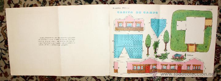 Coleccionismo Recortables: RECORTABLES EVA. LOTE DE 7. AÑO 1965. GRANJA, CASA DE CAMPO Y CHALET - Foto 4 - 45634580