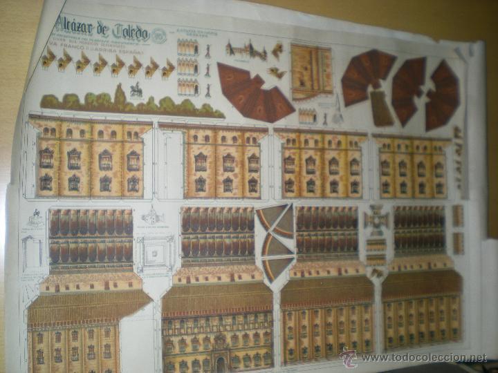 RECORTABLE ANTIGUO DE EL ALCAZAR DE TOLEDO (Coleccionismo - Recortables - Construcciones)