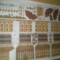 Coleccionismo Recortables: RECORTABLE ANTIGUO DE EL ALCAZAR DE TOLEDO. Lote 45636393