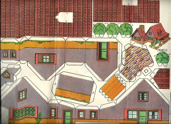 RECORTABLE - CONSTRUCCIONES PEPI - SERIE EDIFICIOS Nº 21 - CASA - ED. ROMA - BARCELONA - AÑOS 50 (Coleccionismo - Recortables - Construcciones)