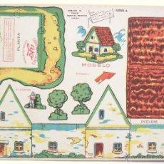Coleccionismo Recortables: LAMINA RECORTABLE CONSTRUCCIONES YO. SERIE A Nº 12: CASA DE CAMPO CHALET. AÑOS 50. Lote 46098024