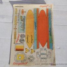 Coleccionismo Recortables: ANTIGUO RECORTABLE CEREGUMIL ( CONSTRUCCIONES ). Lote 47067329