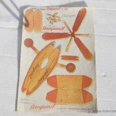Coleccionismo Recortables: ANTIGUO RECORTABLE CONSTRUCCIONES AVION. Lote 47067337