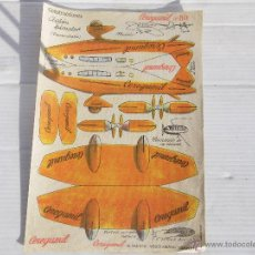 Coleccionismo Recortables: ANTIGUO RECORTABLE CONSTRUCCIONES AVION. Lote 47067342