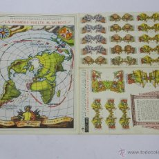 Coleccionismo Recortables: RECORTABLE HECHOS HISTORICOS LA PRIMERA VUELTA AL MUNDO SERIE 4. Nº 6, CONSTRUCCIONES CALLEJA, MIDE . Lote 47186127