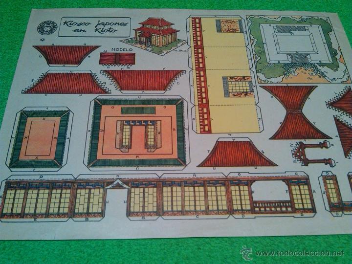 LOTE RECORTABLE KIOSCO JAPONES - RECORTABLES BRUGUERA (Coleccionismo - Recortables - Construcciones)