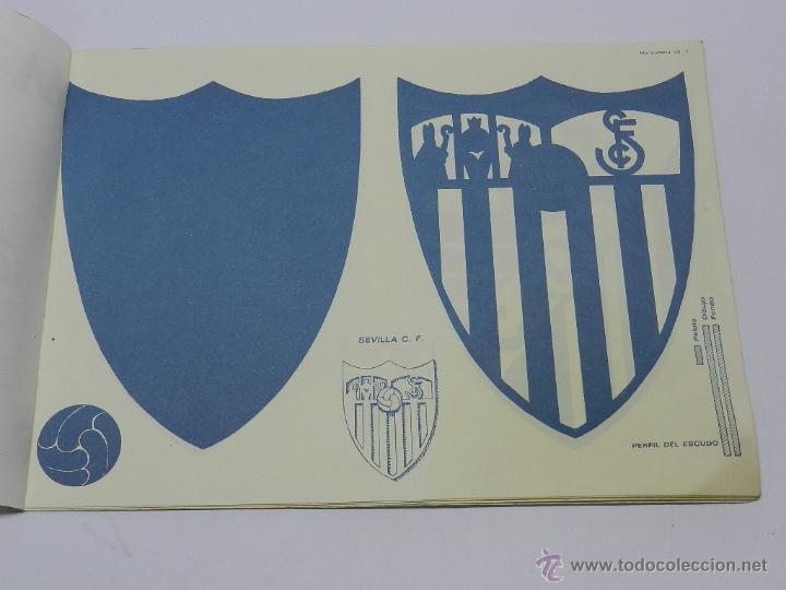 Coleccionismo Recortables: Marqueteria Miguel Salvatella Litoclub 1960, Cuaderno 48, escudos de futbol, Sevilla, Malaga, Real M - Foto 2 - 47567225