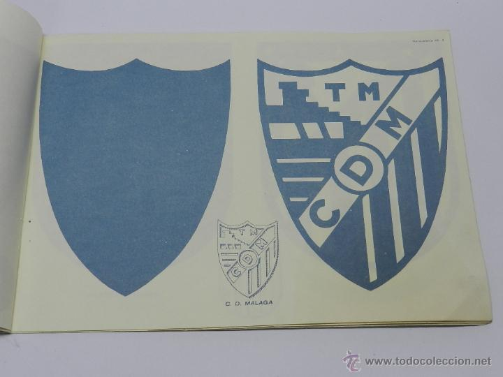 Coleccionismo Recortables: Marqueteria Miguel Salvatella Litoclub 1960, Cuaderno 48, escudos de futbol, Sevilla, Malaga, Real M - Foto 3 - 47567225