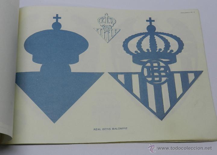 Coleccionismo Recortables: Marqueteria Miguel Salvatella Litoclub 1960, Cuaderno 48, escudos de futbol, Sevilla, Malaga, Real M - Foto 4 - 47567225