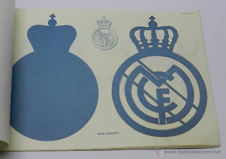 Coleccionismo Recortables: Marqueteria Miguel Salvatella Litoclub 1960, Cuaderno 48, escudos de futbol, Sevilla, Malaga, Real M - Foto 5 - 47567225