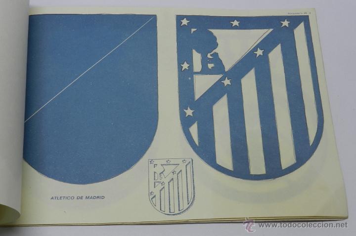 Coleccionismo Recortables: Marqueteria Miguel Salvatella Litoclub 1960, Cuaderno 48, escudos de futbol, Sevilla, Malaga, Real M - Foto 6 - 47567225