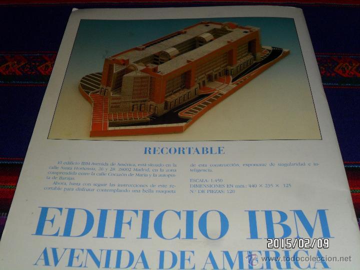 Coleccionismo Recortables: EL RECORTABLE MONTADO. CONTRAPORTADA. - Foto 4 - 47711397